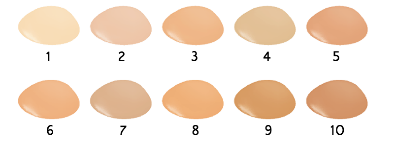 BROOKLIN Foundation palette